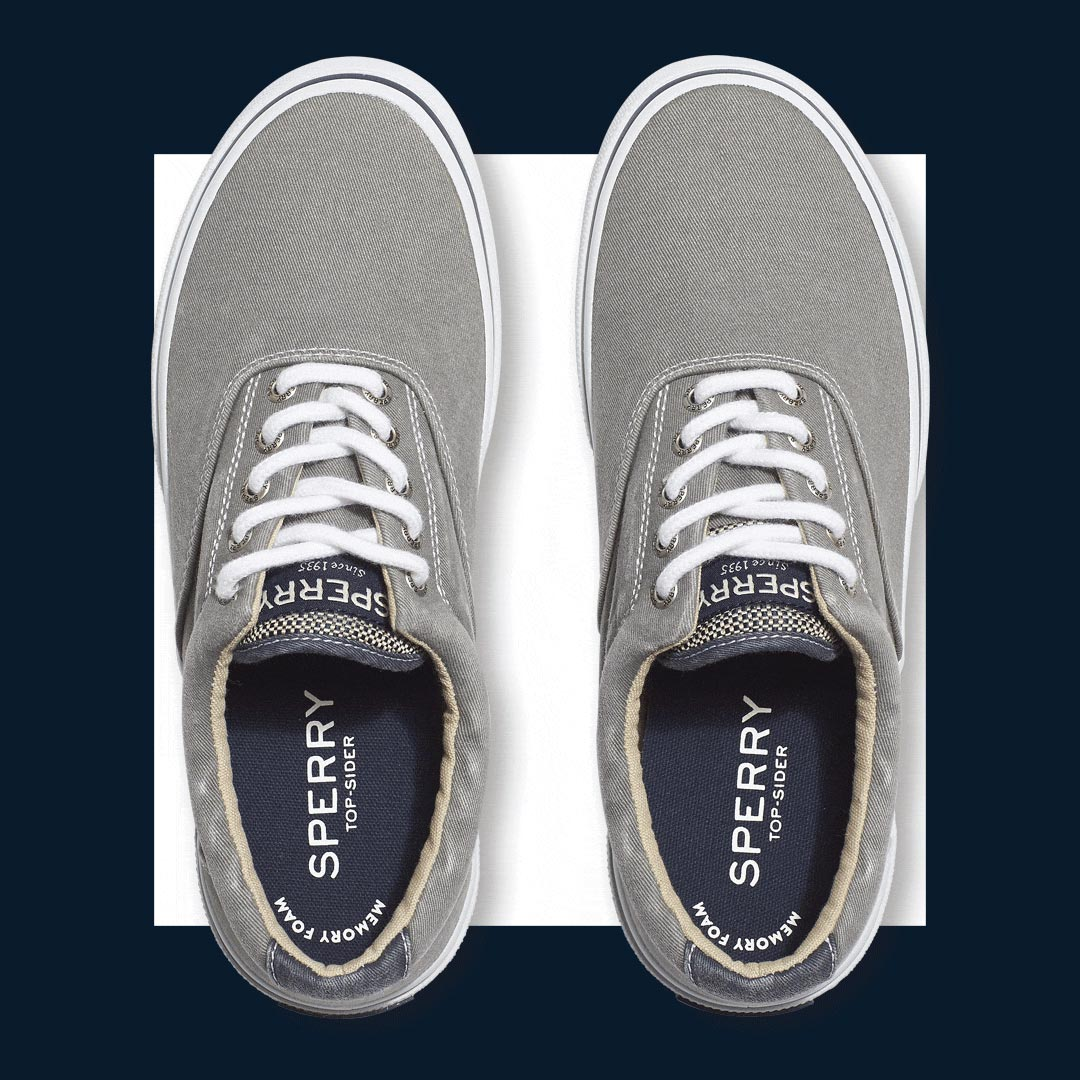 mens sperry lace-up sneakers