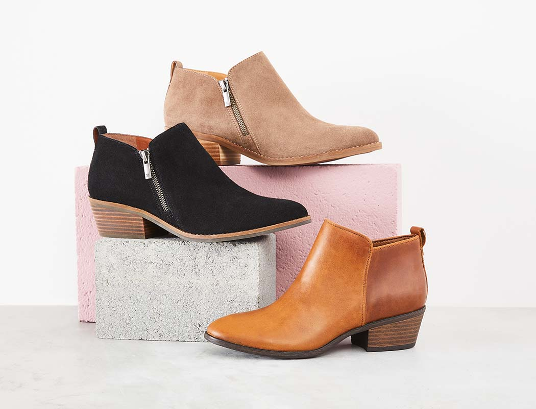 assorted Lucky Brand boots