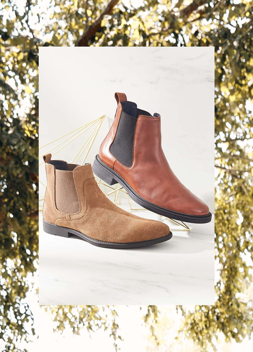 two chelsea boots