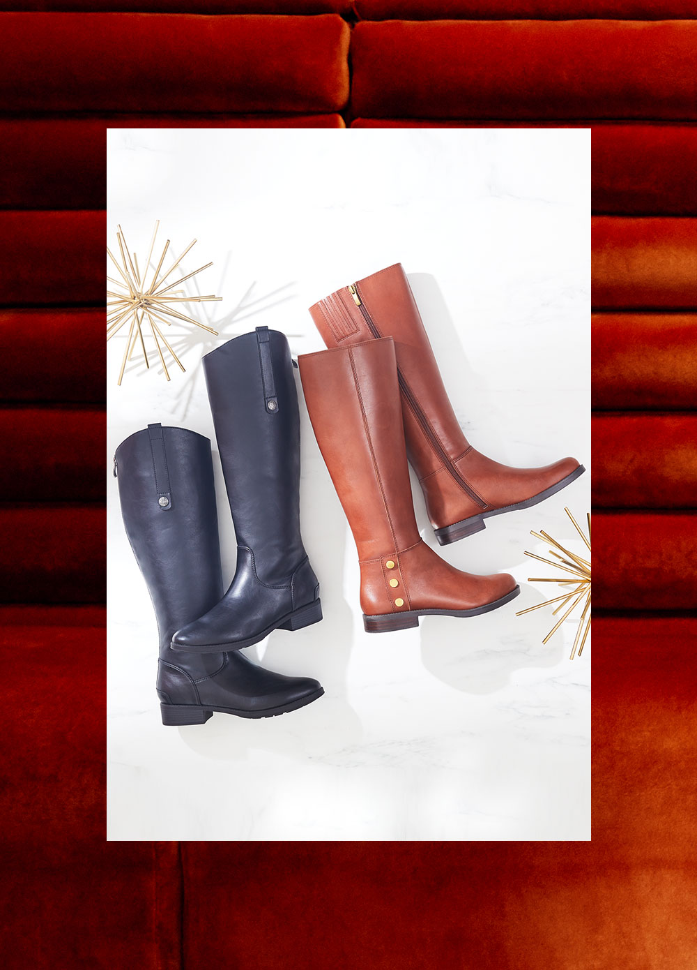 two pair riding boots