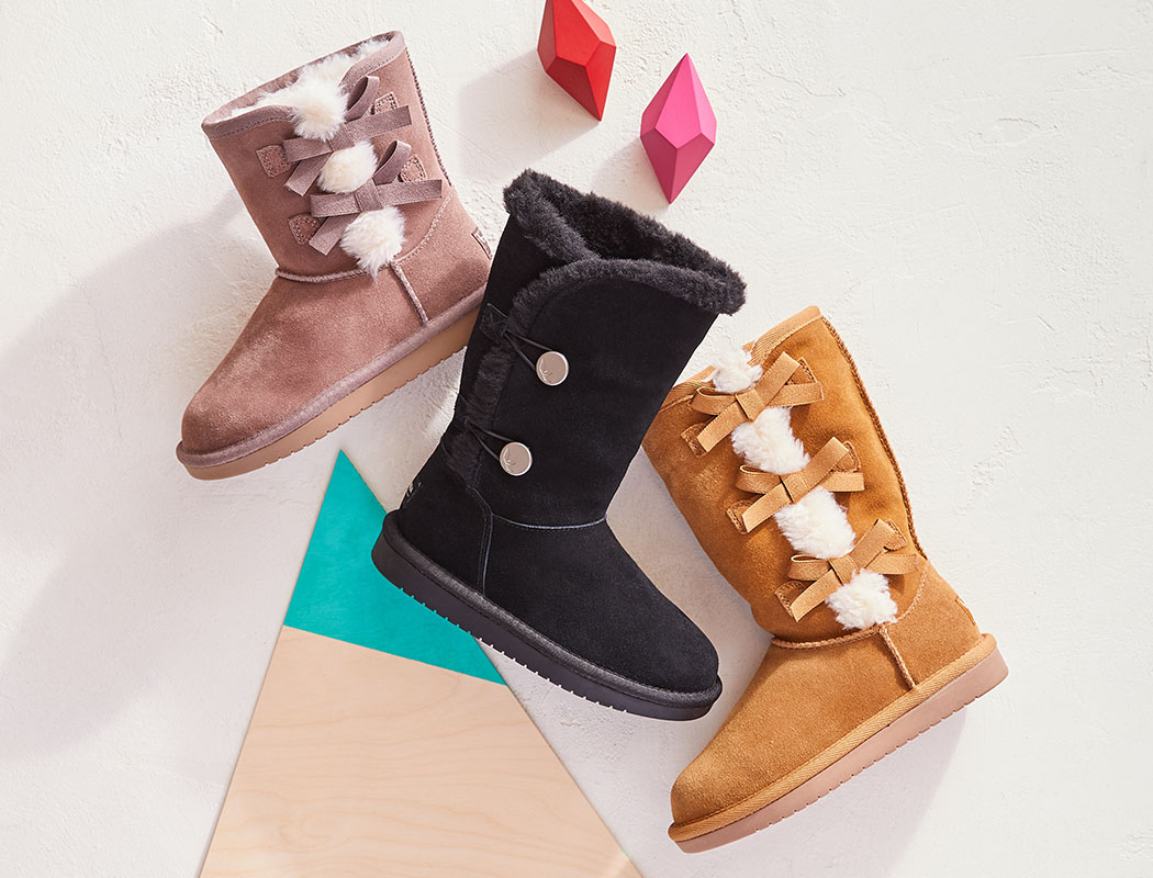 assorted fur boots