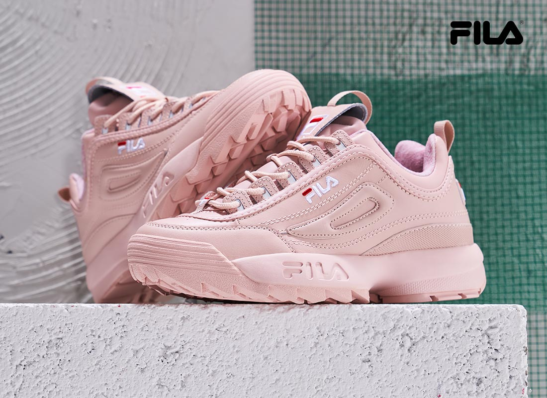blush tone fila shoes
