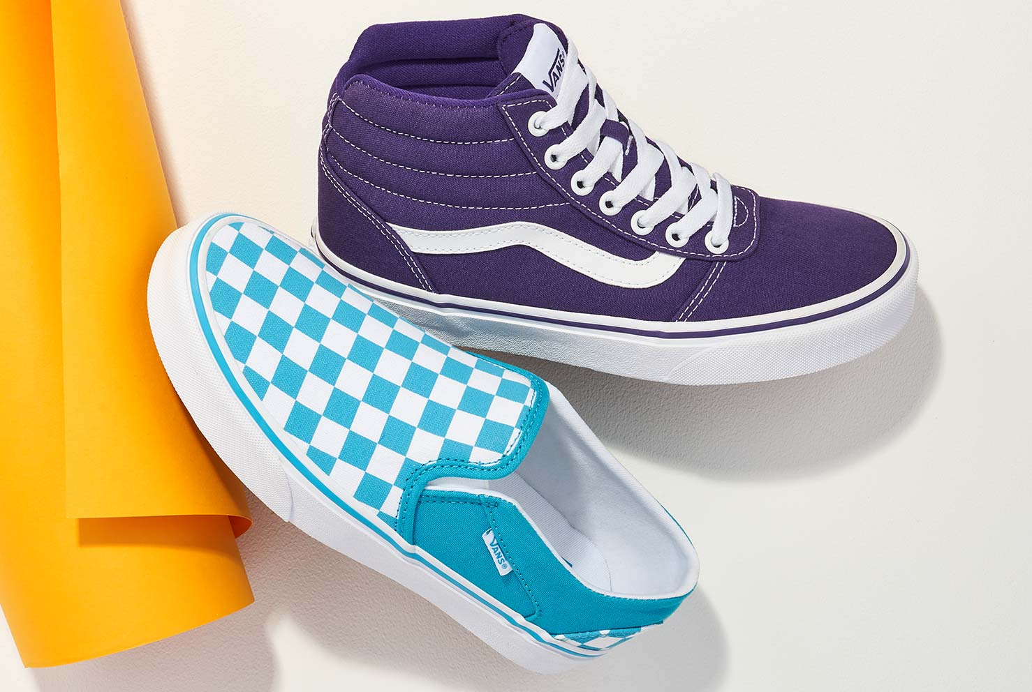 assorted colorful vans
