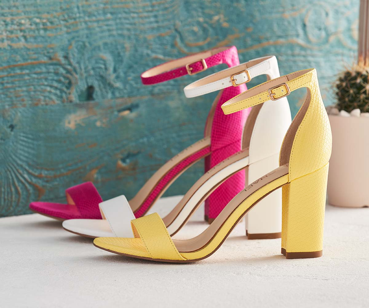colorful assortment of Michael dress sandals