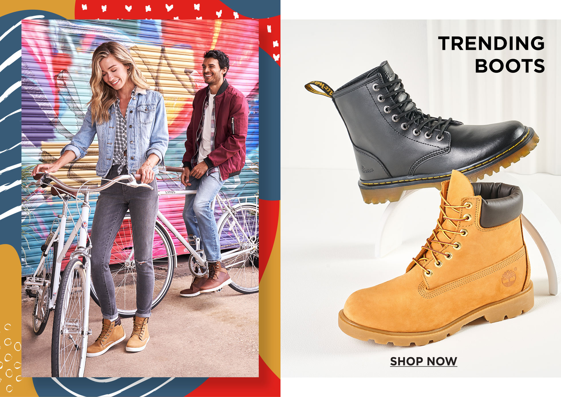 Dr Matens and timberland trending Boots: Shop Now