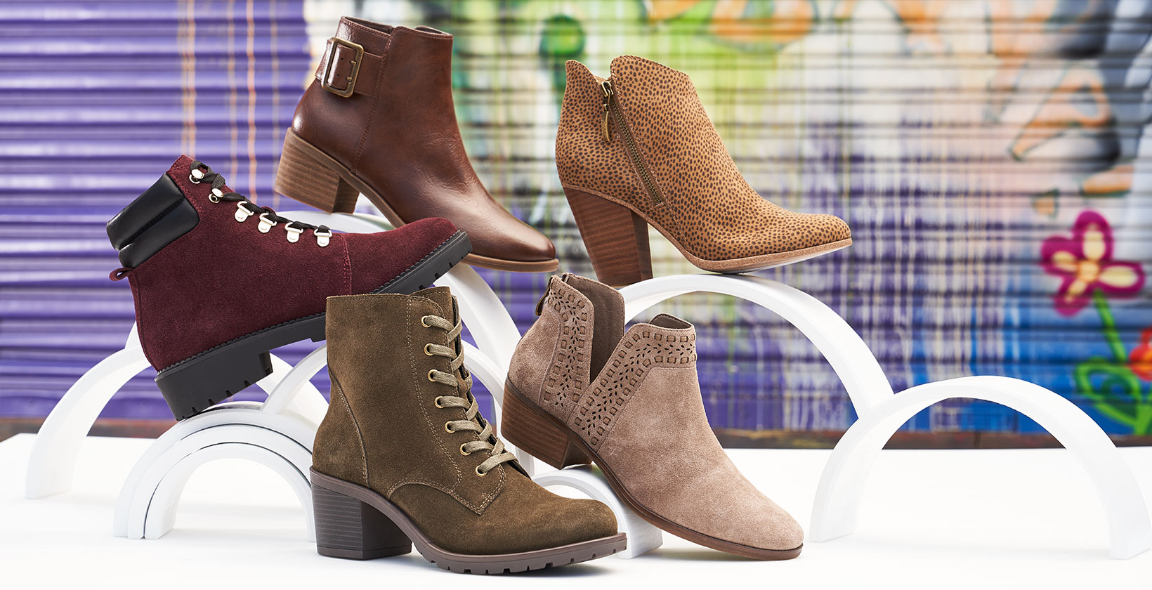 assorted boots and booties