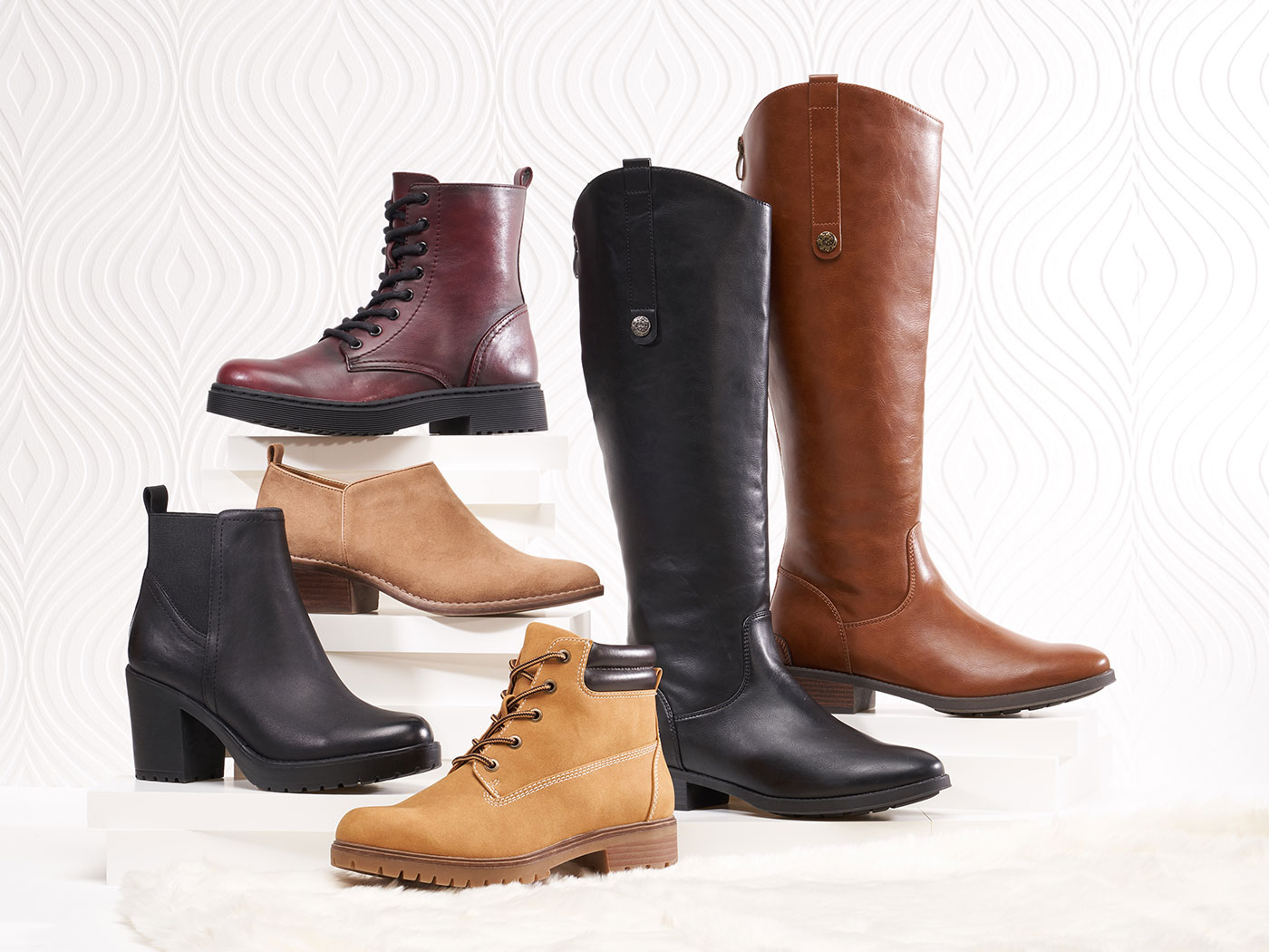 assorted trendy womens boots