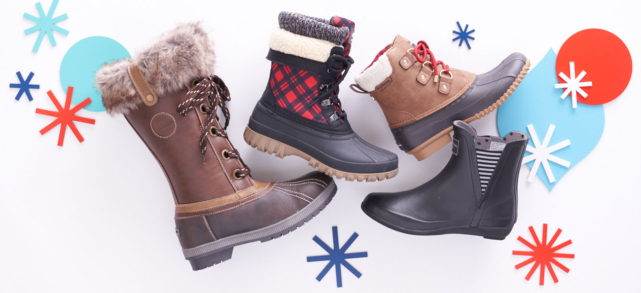 assorted weather ready boots