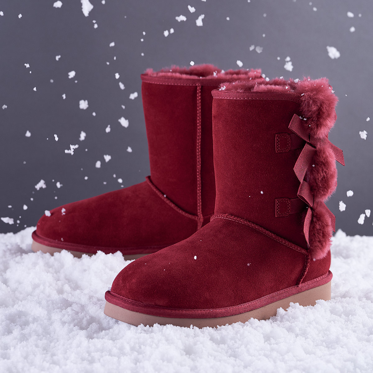 Pair of beautiful burgandy Koolaburra by Ugg boots