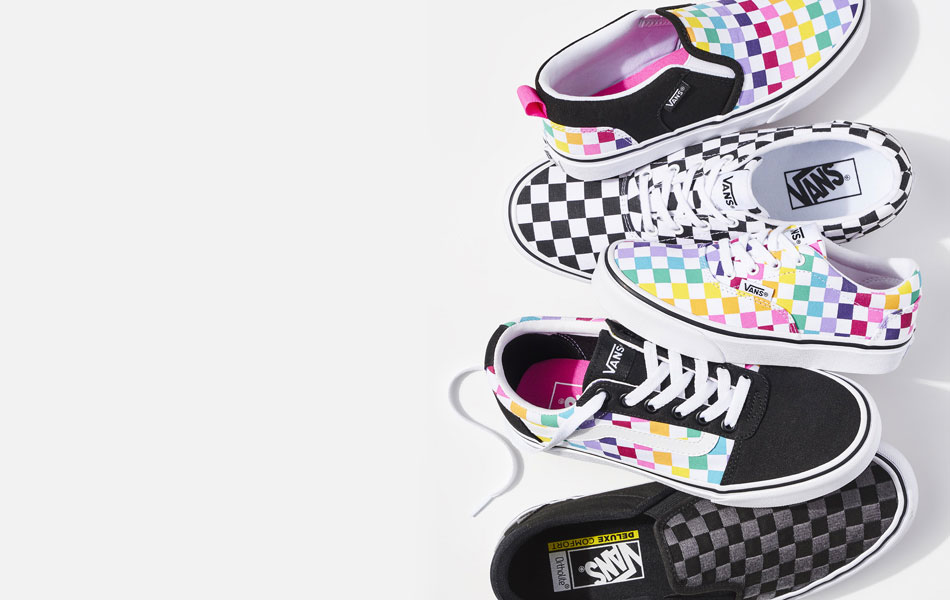 bright colored vans sneakers
