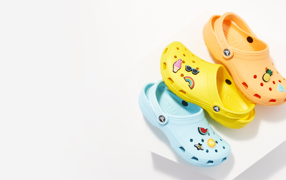 summer color crocs classic clogs with fun jibbitz