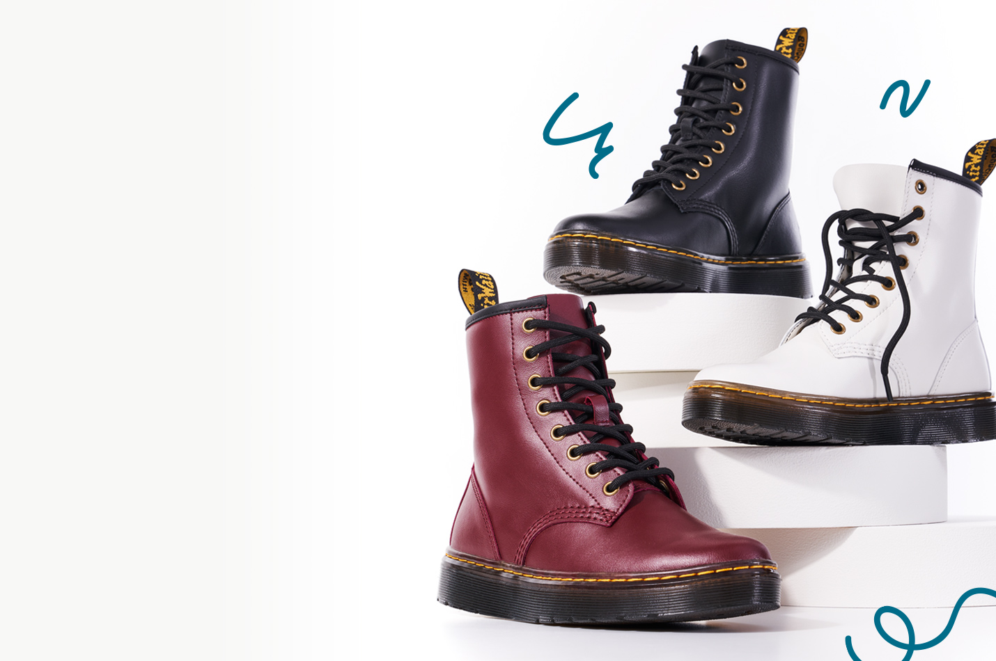 assorted dr.martens boots