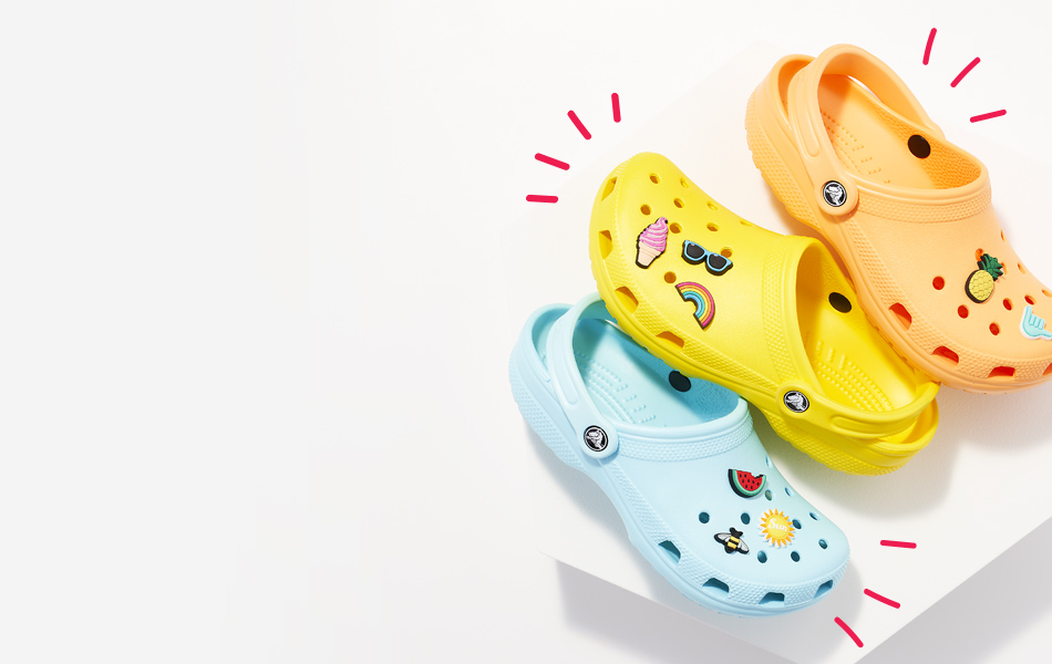 colorful crocs