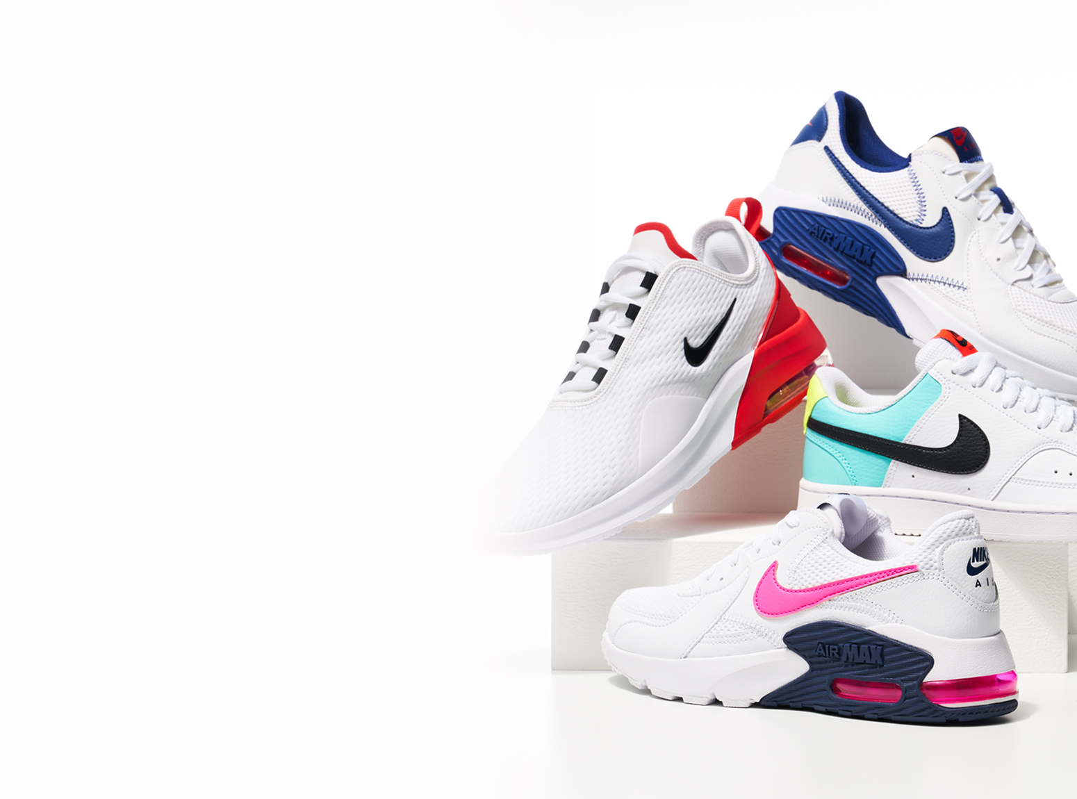 assorted stylish nike atletic shoes